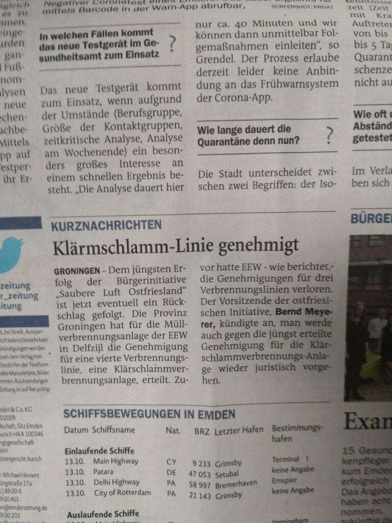 201013 EZ_Klärschlamm-Linie genehmigt